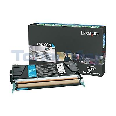 LEXMARK C524 C532 TONER CARTRIDGE CYAN RP 5K